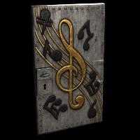 Musical Notes Door Rust Skin