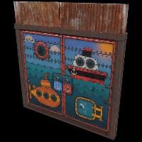 Shippy & Friends Double Door Rust Skin