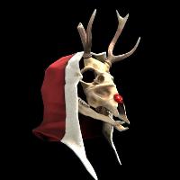 Rudolph Skull Mask Rust Skin