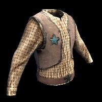 Cowboy Shirt Rust Skin