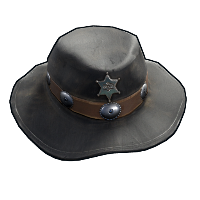 Cowboy Sheriff Hat Rust Skin