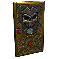 Pirate Treasures Door Rust Skin