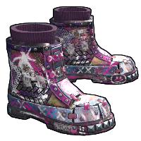 Apocalyptic Knight Boots Rust Skin