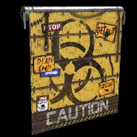 Caution Garage Door Rust Skin