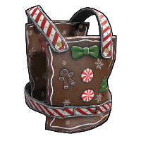 Naughty Gingerbread Chestplate Rust Skin