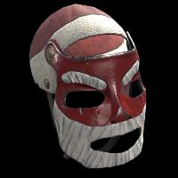 Santa Metal Facemask Rust Skin