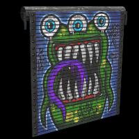 Monster Garage Door Rust Skin