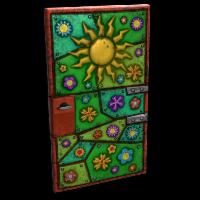 Flower Power Door Rust Skin