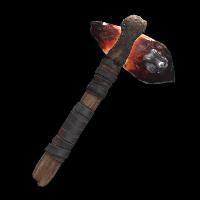 Dragon Glass Stone Hatchet Rust Skin