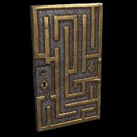 Labyrinth Door Rust Skin