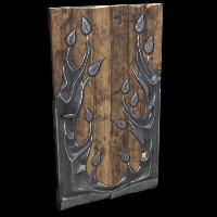 Metal Tree Door Rust Skin
