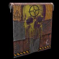 Danger Garage Door Rust Skin