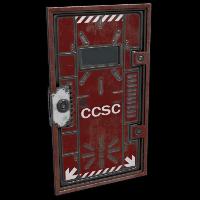 Cargo Ship Security Door Rust Skin