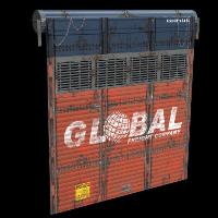 Rust Cargo Truck Garage Door Skins