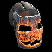 Glowing Metal Pumpkin Mask Rust Skin