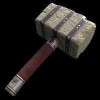 Museum Raider Hammer Rust Skin