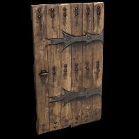 Rust Lone Wolf Door Skins