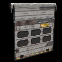 Rust Rolling Exit Door Skins