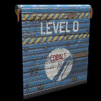 Cobalt Space Door