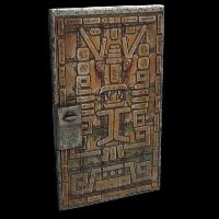 Aztec Door Rust Skin