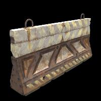 Railway Barricade Rust Skin