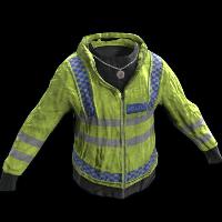 Yellow Police Jacket Rust Skin