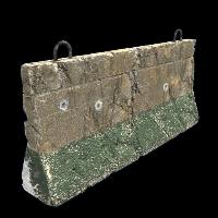 Outpost Concrete Barricade Rust Skin