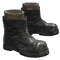 Army Black Boots Rust Skin
