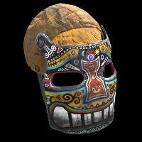 Rust Sunrise Metal Facemask Skins