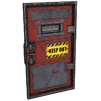 Keep Out Armored Door Rust Skin