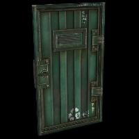 Green Armored Container Door Rust Skin