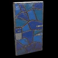 Blue Puzzle Door Rust Skin