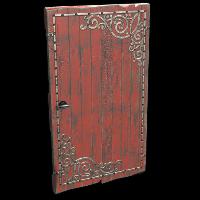 Red Decorative Wood Door Rust Skin