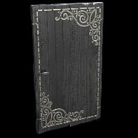 Black Decorative Wood Door Rust Skin