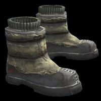 Wasteland Hunter Boots Rust Skin