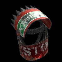 Roadsign Warrior Helmet Rust Skin