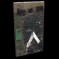 Salvaged APC Door Rust Skin