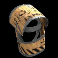 Plywood Helmet Rust Skin