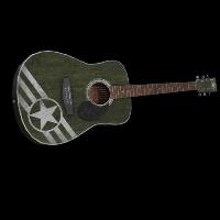 Army Acoustic Guitar Rust Skin