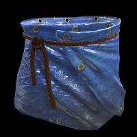 Blue Tarp Skirt Rust Skin