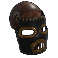Rust Steampunk Leather Mask Skins