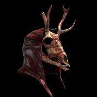 Demonic Deer Skull Rust Skin