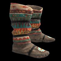 Rust Native American Hide Shoes Skins