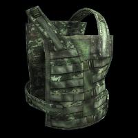 Rust Flak Vest - Green Skins