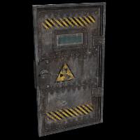 Laboratory Armored Door Rust Skin