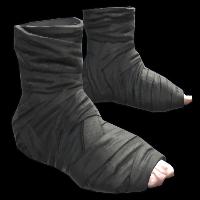 Burlap Ninja Slippers Rust Skin