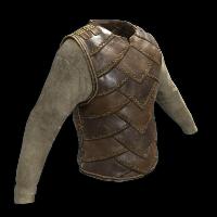 Burlap and Leather Vest Rust Skin