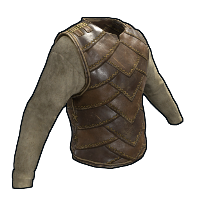 Burlap and Leather Vest