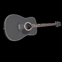 Black Acoustic Guitar Rust Skin