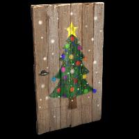 Christmas Tree Door Rust Skin